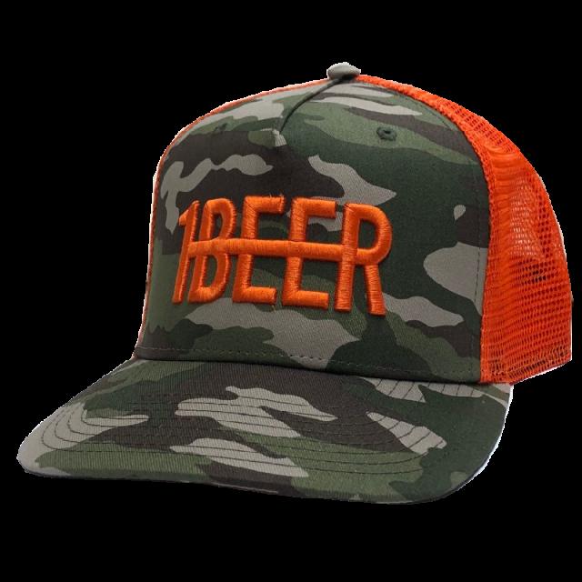HARDY Camo and Orange Beer Hat